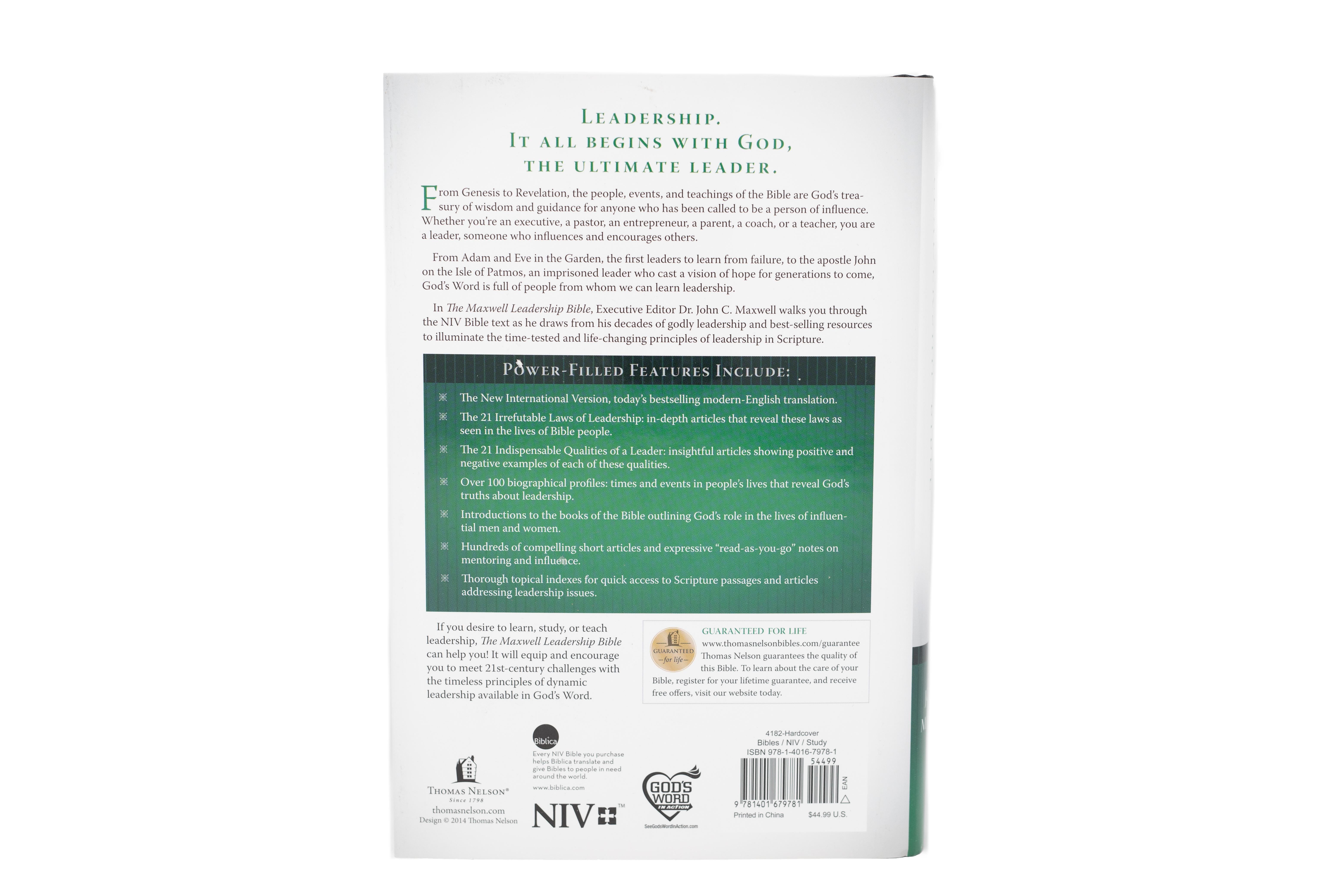 The Maxwell Leadership Bible - Hardcover [NIV]