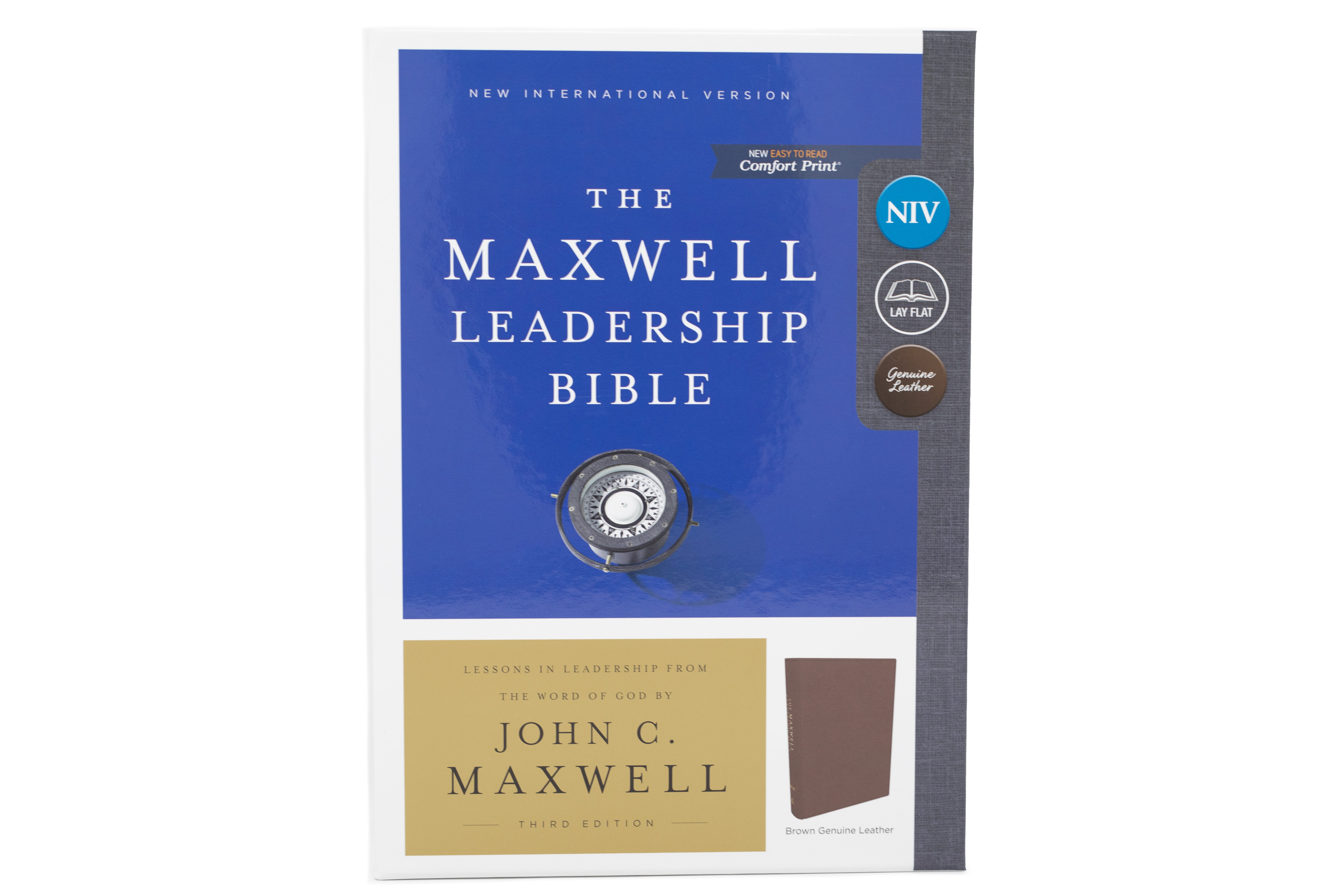 The Maxwell Leadership Bible - Brown Genuine Leather [NIV] - Third Edition