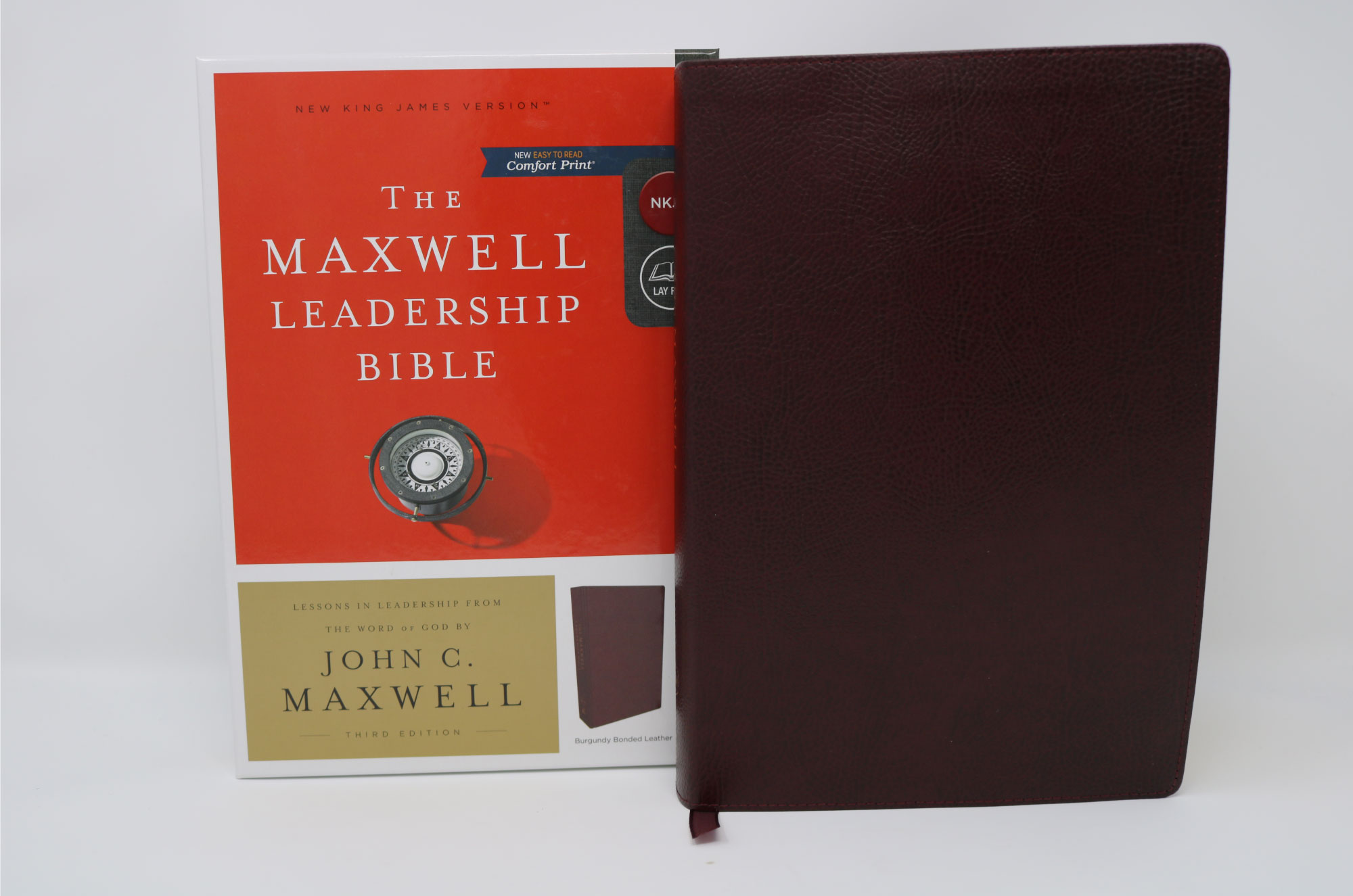 John Maxwell Leadership Bible - NKJV - Third Edition Premium Calfskin Leather, Brown, Comfort Print