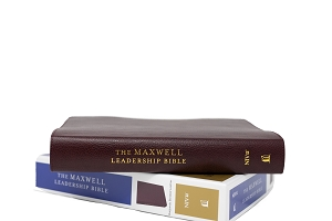 The Maxwell Leadership Bible - Burgandy Premium Bonded Leather [NIV] - Third Edition