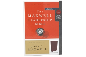John Maxwell Leadership Bible - NKJV - Third Edition, Premium Bonded Leather, Burgundy,  Comfort Print