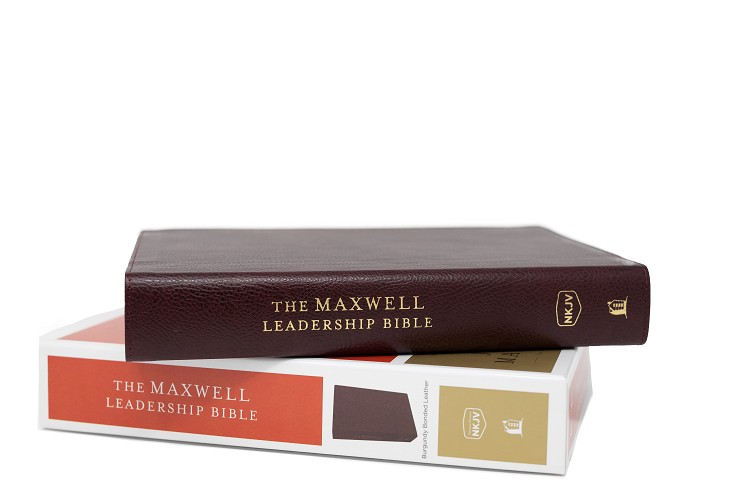 The Maxwell Leadership Bible NKJV [Burgundy Premium Bonded Leather]  - Third Edition Comfort Print