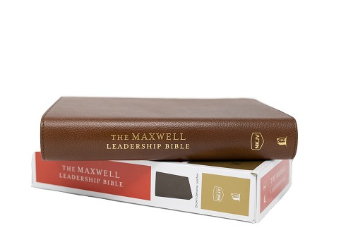 The Maxwell Leadership Bible NKJV [Brown Premium Leather] - Third Edition Comfort Print